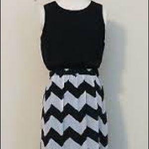 Chevron stripe maxi dress